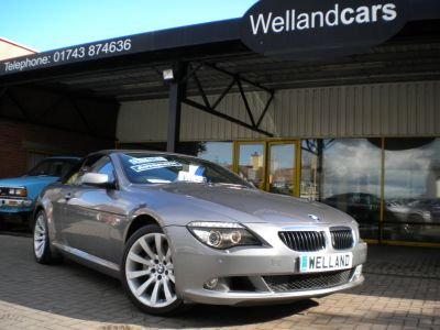 BMW 6 Series 3.0 635d Sport 2dr Auto/Tip,F/S/H Colour Nav,Memory Pack,Heated Leather,Phone Prep,19`Alloys Convertible Diesel Gun Metal Grey MetallicBMW 6 Series 3.0 635d Sport 2dr Auto/Tip,F/S/H Colour Nav,Memory Pack,Heated Leather,Phone Prep,19`Alloys Convertible Diesel Gun Metal Grey Metallic at Welland Cars Shrewsbury