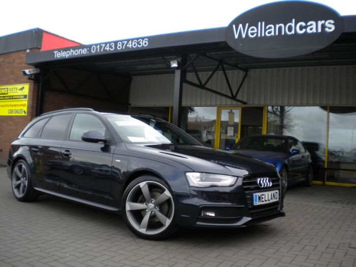 Audi A4 2.0 TDI 177 Quattro S-Line Black Edition 5dr, F/AUDI/S/H,1 Owner, Nav #15 MONTH WARRANTY INCLUDED Estate Diesel Moonlight Blue Metallic
