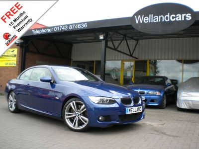 BMW 3 Series 3.0 330d M Sport 2dr Step Auto,F/S/H,New 19`Alloys/Tyres,Leather,B/tooth #15 MONTHS WARRANTY INCLUDED Convertible Diesel Le Mans Blue MetallicBMW 3 Series 3.0 330d M Sport 2dr Step Auto,F/S/H,New 19`Alloys/Tyres,Leather,B/tooth #15 MONTHS WARRANTY INCLUDED Convertible Diesel Le Mans Blue Metallic at Welland Cars Shrewsbury
