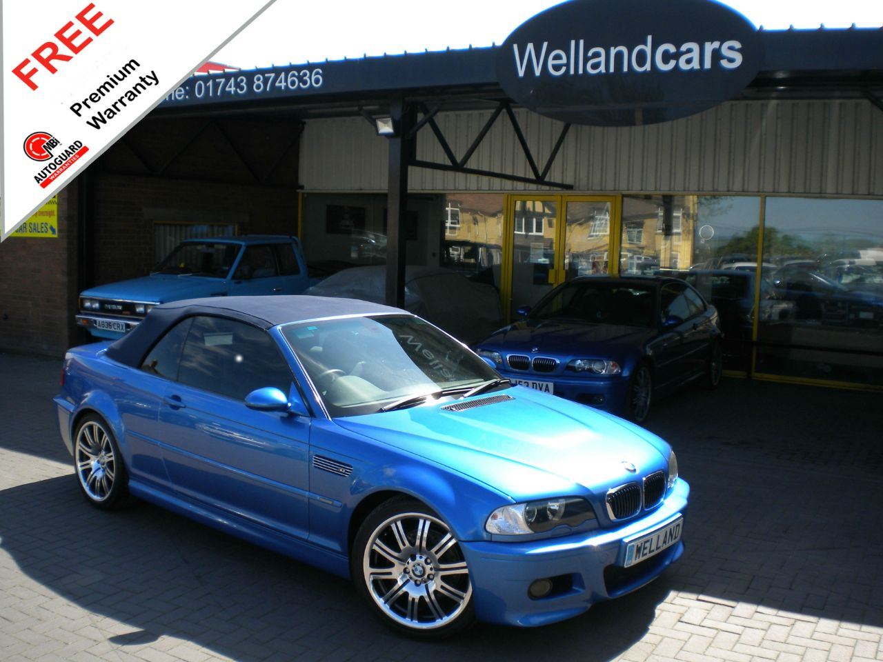 BMW M3 BMW 3.2 INDIVIDUAL EDITION CONVERTIBLE, HUGE SPEC,LOW MILEAGE,WARRANTY INCLUDED Convertible Petrol Estoril Blue Metallic at Welland Cars Shrewsbury