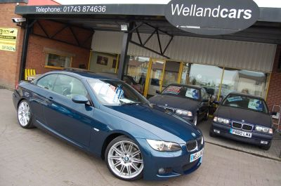 BMW 3 Series 3.0 335i M Sport 2dr Auto Individual Convertible Only 27000 Miles Convertible Petrol Metallic Agean BlueBMW 3 Series 3.0 335i M Sport 2dr Auto Individual Convertible Only 27000 Miles Convertible Petrol Metallic Agean Blue at Welland Cars Shrewsbury