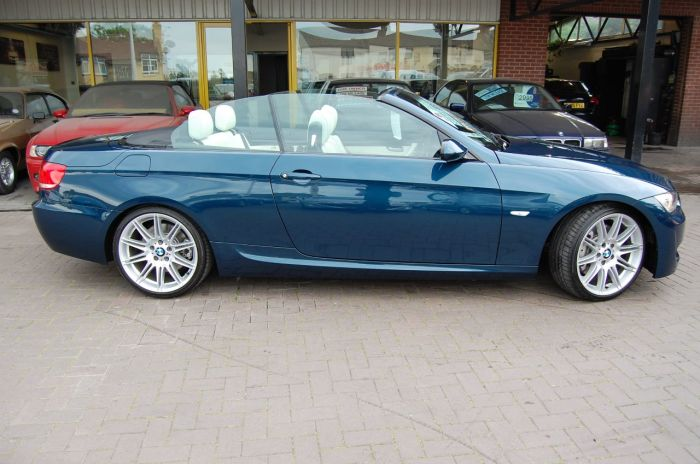 BMW 3 Series 3.0 335i M Sport 2dr Auto Individual Convertible Only 27000 Miles Convertible Petrol Metallic Agean Blue