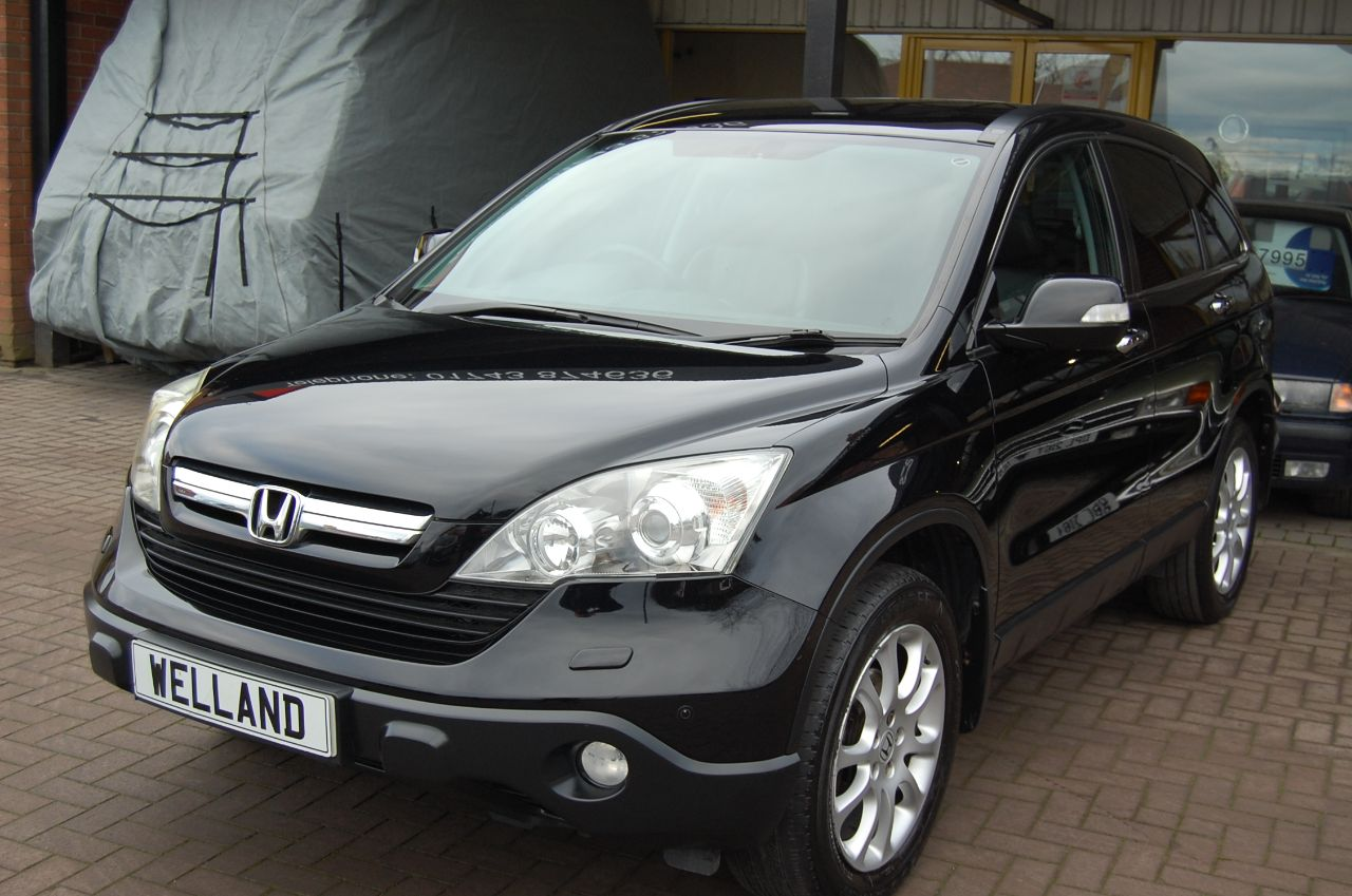 Honda CR-V 2.2 i-CTDI EX 4WD 6 SPEED SUV 4X4 - NAVIGATION FULL LEATHER PAN ROOF Estate Diesel Black at Welland Cars Shrewsbury