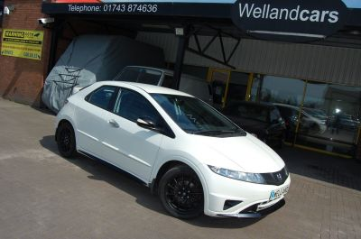 Honda Civic 1.4i VTEC Ti BRITISH TOURING CAR INSPIRED SPECIAL EDITION ONLY 46K Hatchback Petrol WhiteHonda Civic 1.4i VTEC Ti BRITISH TOURING CAR INSPIRED SPECIAL EDITION ONLY 46K Hatchback Petrol White at Welland Cars Shrewsbury