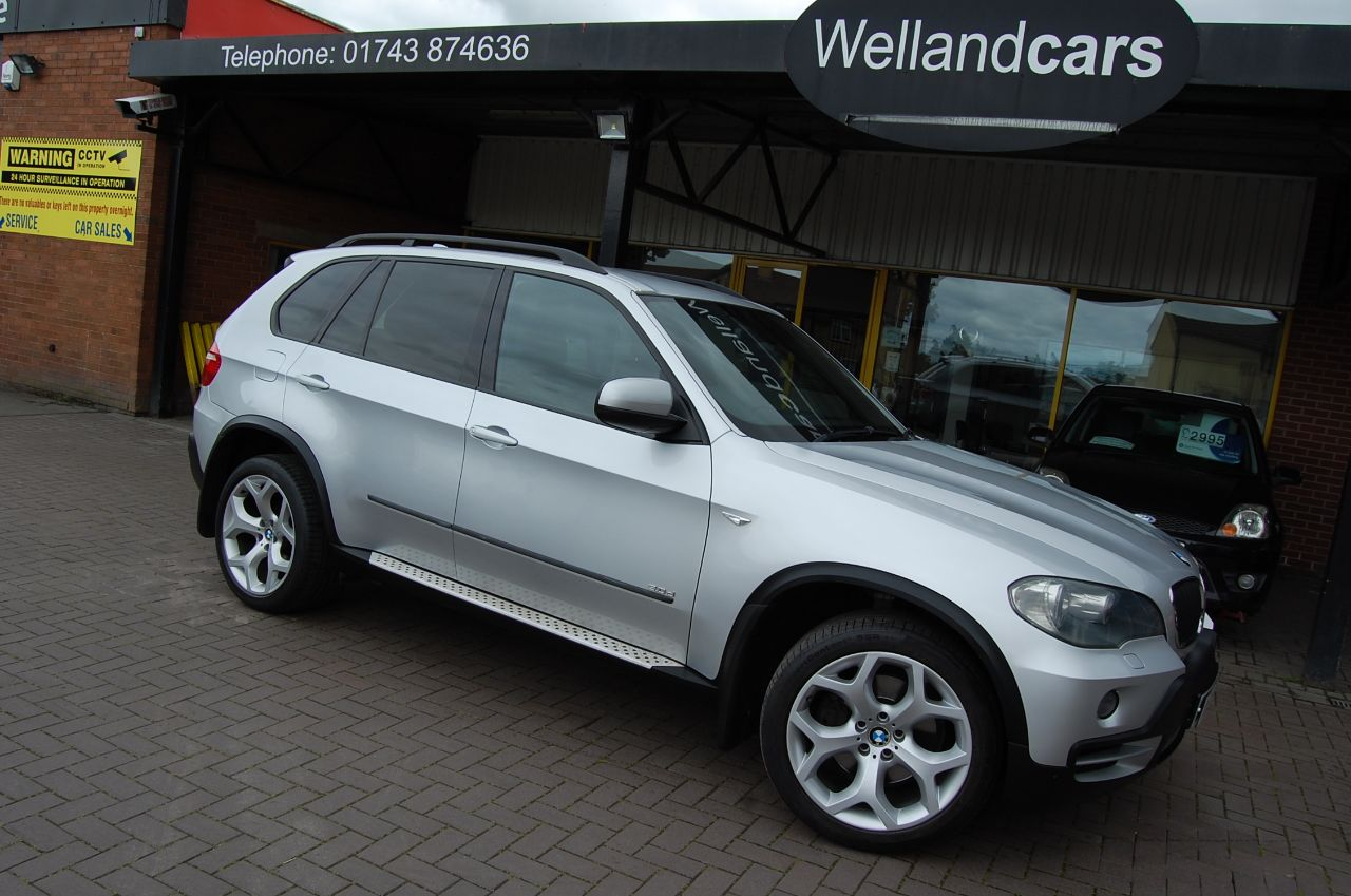 BMW X5 3.0TD AUTOMATIC SPORT PK 7 SEATS 4WD SUV, I DRIVE, NAV, BLUETOOTH FSH 80K Estate Diesel Silver at Welland Cars Shrewsbury