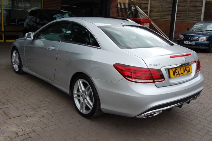 Mercedes-Benz E Class E220 2.1 CDI AMG SPORT COUPE AUTOMATIC HUGE SPECIFICATION LOW MILEAGE Coupe Diesel Silver