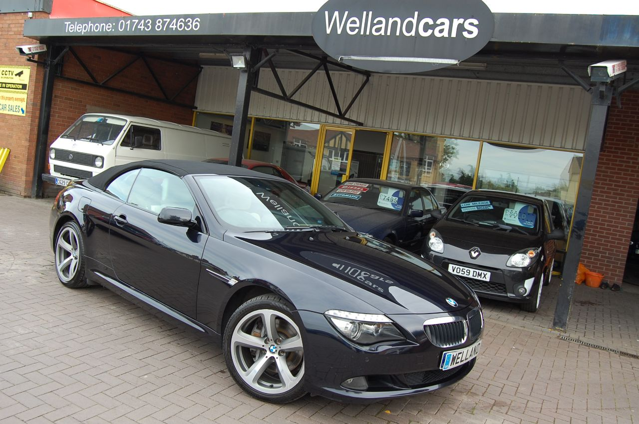 BMW 6 Series 635 3.0TD SPORT CONVERTIBLE AUTOMATIC 1 FORMER KEEPER FULL SERVICE HISTORY Convertible Diesel Blue/black at Welland Cars Shrewsbury