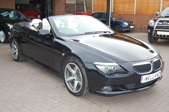 BMW 6 Series 635 3.0TD SPORT CONVERTIBLE AUTOMATIC 1 FORMER KEEPER FULL SERVICE HISTORY Convertible Diesel Blue/black