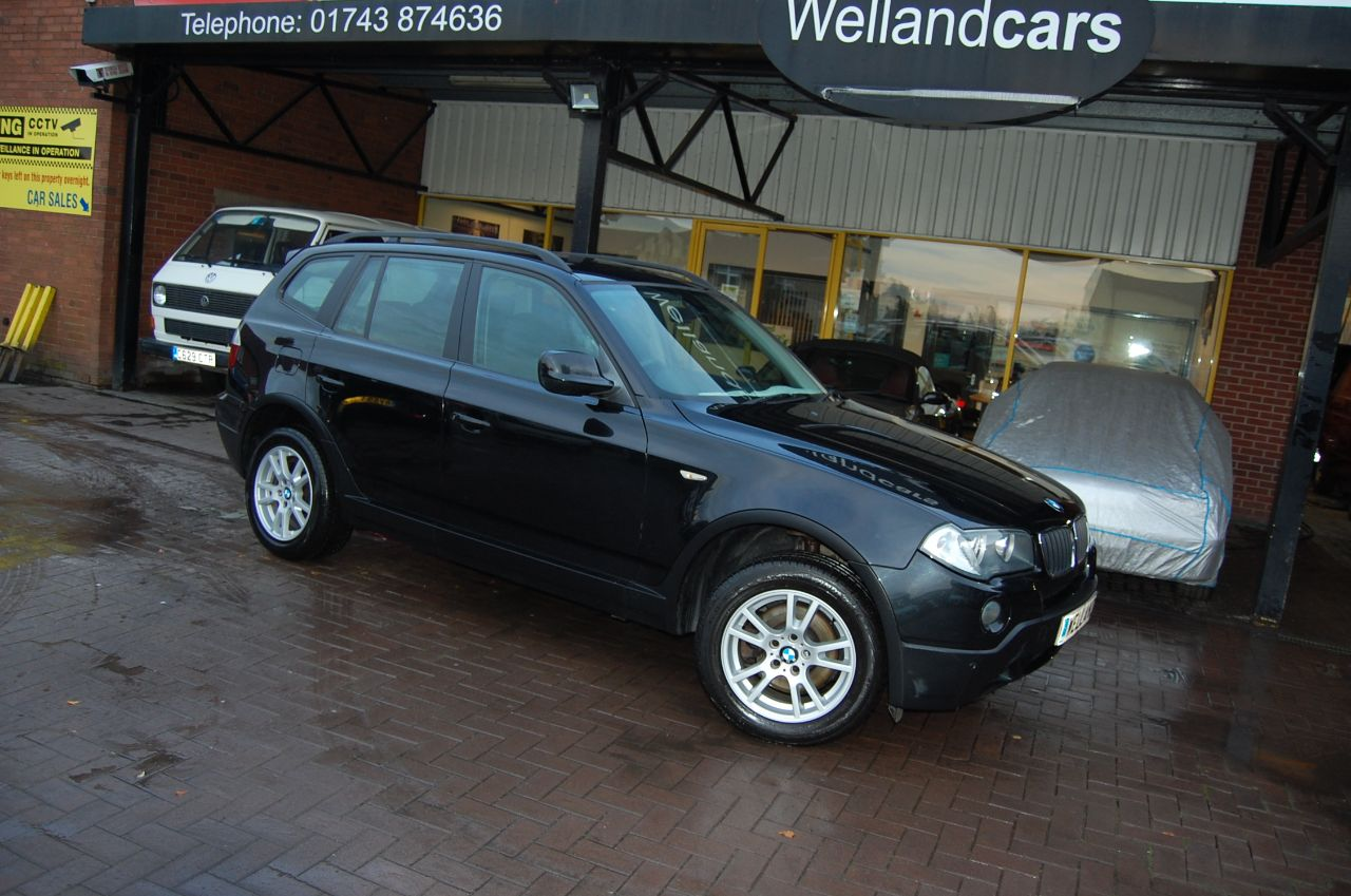 BMW X3 X DRIVE 2.0 SE TD 6 SPEED MANUAL 5 DOOR CLIMATE CONTROL CRUISE CONTROL Estate Diesel Sapphire Black Metallic at Welland Cars Shrewsbury