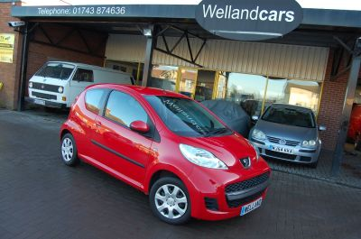 Peugeot 107 URBAN 1.0 12v RED, LOW MILES, IDEAL 1ST CAR, CHEAP TAX & INSURANCE Hatchback Petrol RedPeugeot 107 URBAN 1.0 12v RED, LOW MILES, IDEAL 1ST CAR, CHEAP TAX & INSURANCE Hatchback Petrol Red at Welland Cars Shrewsbury